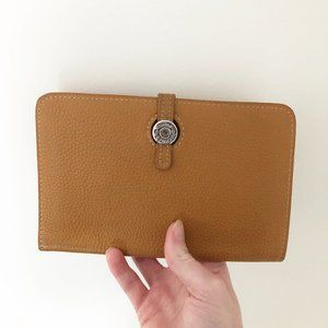 Hermès Dogon Pouch Wallet Camel Tan Leather